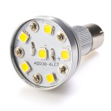 BA15S-x6W-SP: R12 Shape BA15S Bulb with 6 High Power White LEDs