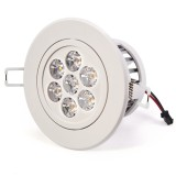 RLFAD-xW7W-P45: 7 Watt LED Recessed Light Fixture - Aimable and Dimmable